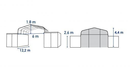 Container shelter TC612