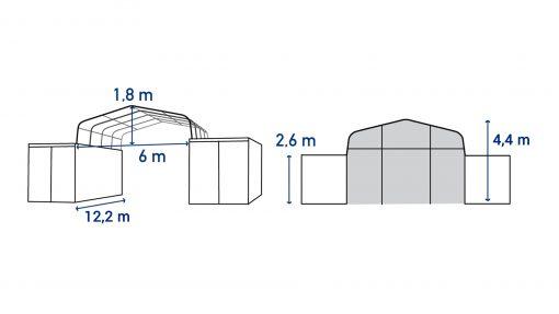 Abri sur containers TC612