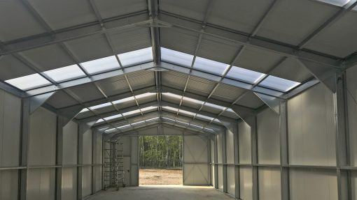 Storage building H936-40 insulated