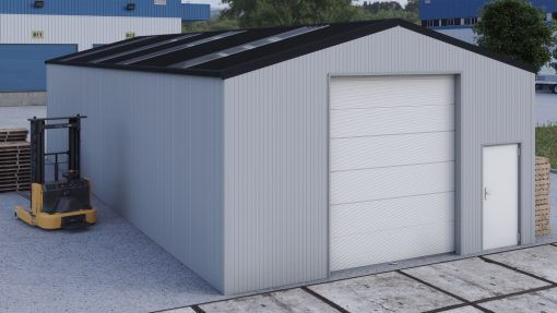 Storage building H717h insulated