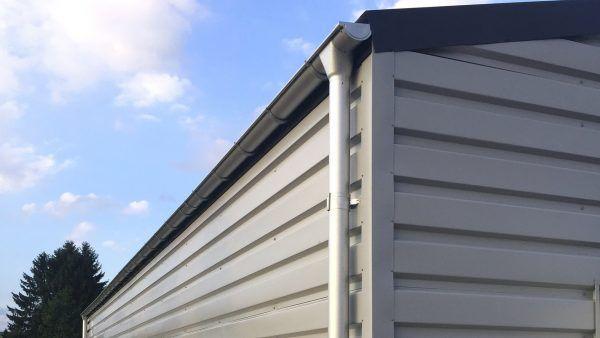 H900-storage-building-rain-gutters-aluminum-white