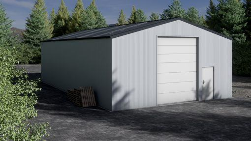 Storage building H917-40 insulated