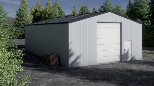Lagerhalle H1017-40 isoliert