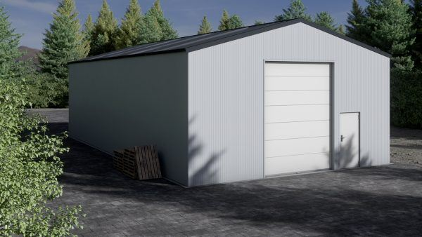 Storage building H917-44 insulated