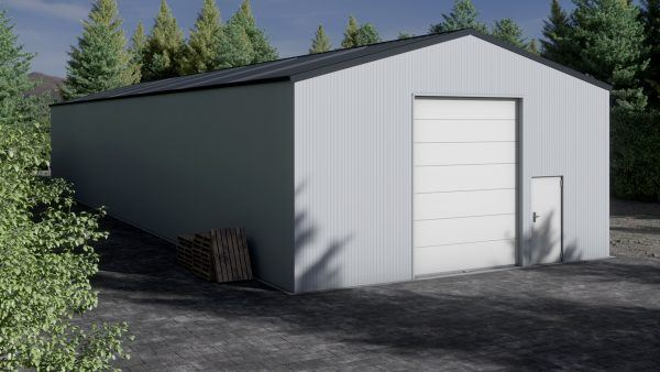 Storage building H930-44 insulated