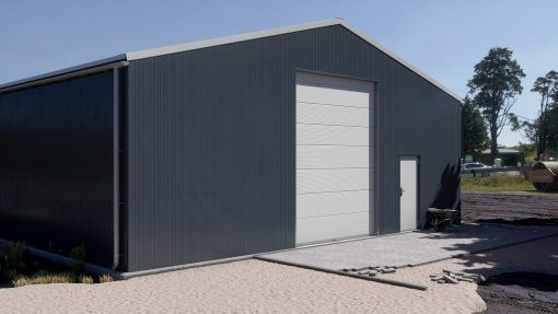 Storage building H1220-30 insulated