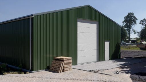Storage building H1117-30 insulated